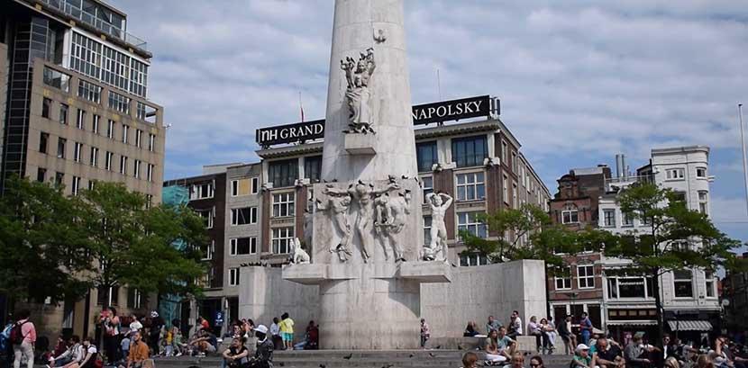 Monumento nacional de amsterdam